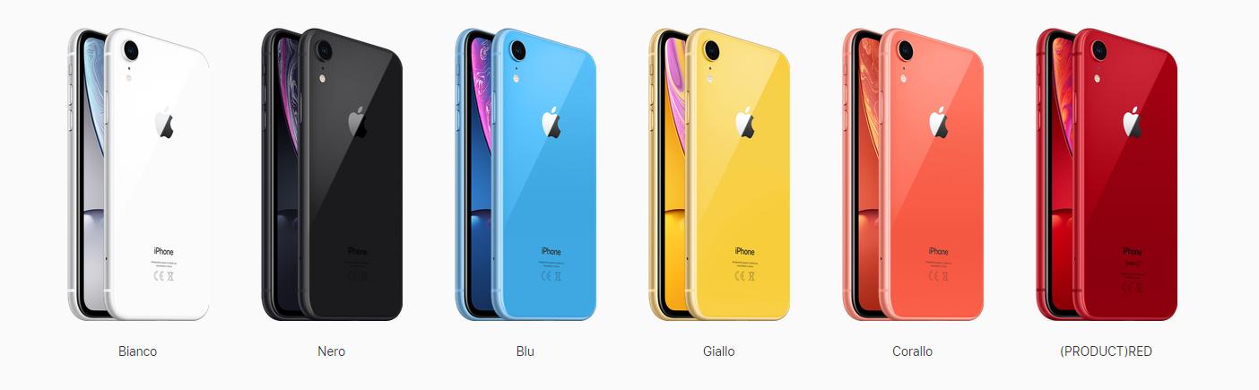 Colori del nuovo iphone xr